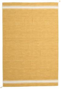 Ernst - Mustard/Off White Teppe 200X300 Ekte Moderne Håndvevd Lysbrun/Mørk Beige (Ull, India)