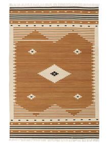 Tribal - Mustard Teppe 160X230 Ekte Moderne Håndvevd Brun/Lysbrun (Ull, India)