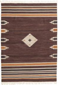 Tribal - Brun Teppe 160X230 Ekte Moderne Håndvevd Mørk Brun/Mørk Rød (Ull, India)