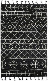 Moss Berber - Svart Teppe 180X275 Ekte Moderne Håndknyttet Svart (Ull, India)