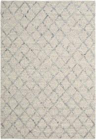 Rut - Sølv/Grå Melange Teppe 200X300 Ekte Moderne Håndvevd Lys Grå/Mørk Beige (Ull, India)