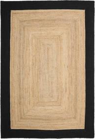 Frida Frame - Natural/Svart Teppe 200X300 Ekte Moderne Håndvevd Mørk Beige/Svart/Beige ( India)