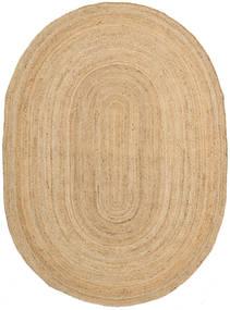 Frida Oval - Natural Teppe 160X230 Ekte Moderne Håndvevd Mørk Beige/Beige ( India)