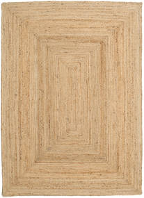 Frida - Natural Teppe 160X230 Ekte Moderne Håndvevd Mørk Beige/Beige ( India)