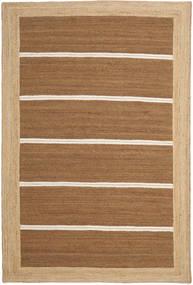Utendørsteppe Frida Stripe - Brun Teppe 200X300 Ekte Moderne Håndvevd Brun/Mørk Beige (Juteteppe India)