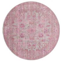 Maharani - Grå/Pink Teppe Ø 200 Moderne Rundt Lyserosa ( Tyrkia)