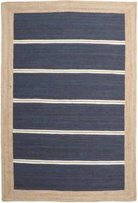 Utendørsteppe Frida Stripe - Blå Teppe 200X300 Ekte Moderne Håndvevd Blå/Beige/Mørk Blå (Juteteppe India)