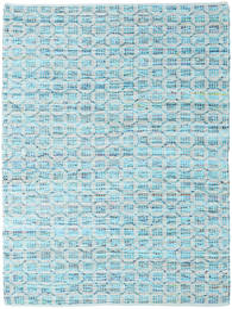 Elna - Bright_Blue Teppe 140X200 Ekte Moderne Håndvevd Lys Blå/Turkis Blå (Bomull, India)