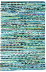 Ronja - Grønn Mix Teppe 170X240 Ekte Moderne Håndvevd Turkis Blå/Lys Blå (Bomull, India)