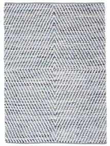 Hilda - Denim/Vit Teppe 170X240 Ekte Moderne Håndvevd Beige/Lys Blå (Bomull, India)