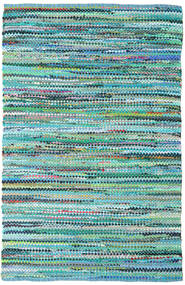 Ronja - Grønn Mix Teppe 140X200 Ekte Moderne Håndvevd Turkis Blå/Lys Blå (Bomull, India)