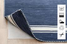 Anti Slip, Non-Woven Teppe 160X230 Moderne Blå/Lys Grå ( Belgia)