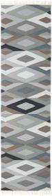 Zimba - Grå Teppe 80X400 Ekte Moderne Håndvevd Teppeløpere Lys Grå/Mørk Grå (Ull, India)