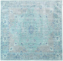Maharani - Blå Teppe 200X200 Moderne Kvadratisk Lys Blå/Turkis Blå ( Tyrkia)