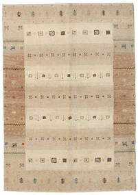 Gabbeh Indisk Teppe 138X198 Ekte Moderne Håndknyttet Teppeløpere Beige/Lys Grå (Ull, India)