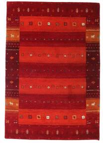 Gabbeh Indisk Teppe 137X199 Ekte Moderne Håndknyttet Mørk Rød/Rust/Rød (Ull, India)