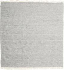 Melange - Grå Teppe 300X300 Ekte Moderne Håndvevd Kvadratisk Lys Grå Stort (Ull, India)