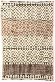 Barchi/Moroccan Berber - Afganistan Teppe 194X286 Ekte Moderne Håndknyttet Beige/Mørk Brun (Ull, Afghanistan)