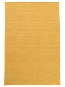 Kelim Loom - Gul Teppe 160X230 Ekte Moderne Håndvevd Lysbrun/Gul (Ull, India)