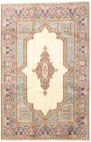 Kerman Teppe 200X303 Ekte Orientalsk Håndknyttet Beige/Mørk Brun (Ull, Persia/Iran)
