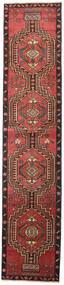 Ardebil Patina Teppe 81X385 Ekte Orientalsk Håndknyttet Teppeløpere Mørk Rød/Svart (Ull, Persia/Iran)