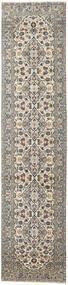 Keshan Patina Teppe 94X408 Ekte Orientalsk Håndknyttet Teppeløpere Lys Grå/Mørk Grå (Ull, Persia/Iran)