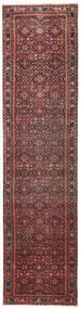 Hosseinabad Patina Teppe 79X317 Ekte Orientalsk Håndknyttet Teppeløpere Mørk Rød/Mørk Brun (Ull, Persia/Iran)