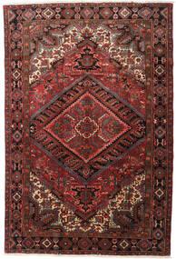 Heriz Teppe 215X318 Ekte Orientalsk Håndknyttet Mørk Rød/Mørk Brun (Ull, Persia/Iran)