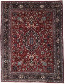 Mashad Patina Teppe 304X398 Ekte Orientalsk Håndknyttet Mørk Rød/Mørk Grå Stort (Ull, Persia/Iran)