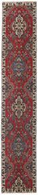 Tabriz Patina Teppe 80X430 Ekte Orientalsk Håndknyttet Teppeløpere Mørk Rød/Mørk Brun (Ull, Persia/Iran)