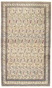 Kerman Patina Teppe 85X147 Ekte Orientalsk Håndknyttet Beige/Lys Grå (Ull, Persia/Iran)