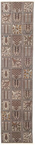 Bakhtiar Patina Teppe 70X305 Ekte Orientalsk Håndknyttet Teppeløpere Lys Grå/Mørk Brun (Ull, Persia/Iran)