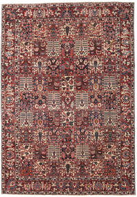 Bakhtiar Patina Teppe 253X365 Ekte Orientalsk Håndknyttet Mørk Rød/Mørk Brun Stort (Ull, Persia/Iran)