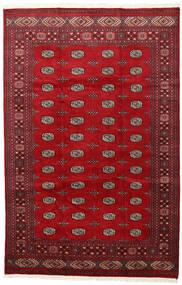 Pakistan Bokhara 2Ply Teppe 202X312 Ekte Orientalsk Håndknyttet Rød/Mørk Rød (Ull, Pakistan)