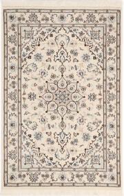 Nain 9La Sherkat Farsh Teppe 81X122 Ekte Orientalsk Håndknyttet Lys Grå/Beige (Ull/Silke, Persia/Iran)