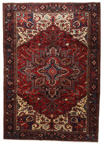 Hamadan Teppe 234X333 Ekte Orientalsk Håndknyttet Mørk Rød/Mørk Brun (Ull, Persia/Iran)