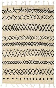 Beni Berber Teppe 180X275 Ekte Moderne Håndknyttet Beige/Mørk Grå (Ull, India)