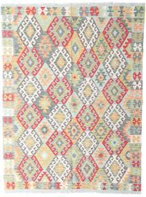 Kelim Afghan Old Style Teppe 142X190 Ekte Orientalsk Håndvevd Lys Grå/Beige (Ull, Afghanistan)