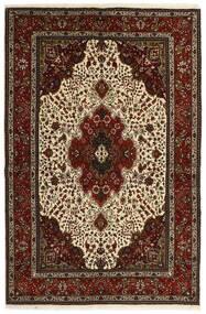 Tabriz 40 Raj Teppe 151X221 Ekte Orientalsk Håndvevd Mørk Brun/Beige (Ull/Silke, Persia/Iran)