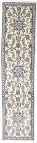 Nain Teppe 72X304 Ekte Orientalsk Håndknyttet Teppeløpere Beige/Lys Grå (Ull, Persia/Iran)