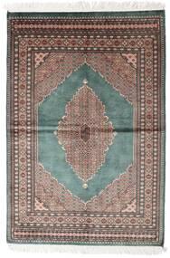 Pakistan Bokhara 3Ply Teppe 142X208 Ekte Orientalsk Håndknyttet Mørk Grå/Hvit/Creme (Ull, Pakistan)
