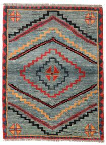 Gabbeh Rustic Teppe 112X148 Ekte Moderne Håndknyttet Lys Grå/Grønn (Ull, Persia/Iran)