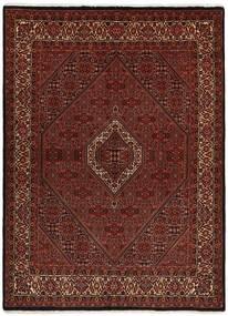 Bidjar Med Silke Teppe 170X228 Ekte Orientalsk Håndvevd Mørk Brun/Mørk Rød (Ull/Silke, Persia/Iran)