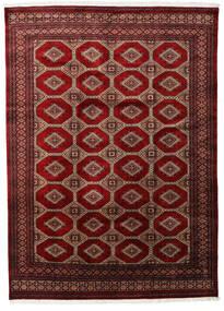 Pakistan Bokhara 3Ply Teppe 201X279 Ekte Orientalsk Håndknyttet Mørk Rød/Mørk Brun (Ull, Pakistan)