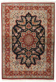 Ghom Kork/Silke Teppe 143X203 Ekte Orientalsk Håndknyttet Mørk Brun/Lysbrun (Ull/Silke, Persia/Iran)