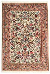 Ghom Kork/Silke Teppe 108X157 Ekte Orientalsk Håndknyttet Beige/Mørk Brun (Ull/Silke, Persia/Iran)