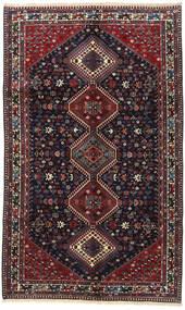 Yalameh Teppe 153X252 Ekte Orientalsk Håndknyttet Svart/Mørk Rød (Ull, Persia/Iran)