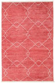 Bamboo Silke Handloom Teppe 160X230 Ekte Moderne Håndknyttet Rød/Lyserosa ( India)