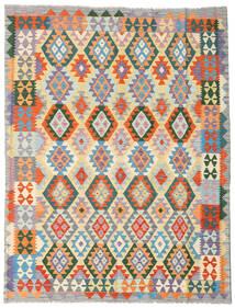 Kelim Afghan Old Style Teppe 178X231 Ekte Orientalsk Håndvevd Orange/Mørk Beige (Ull, Afghanistan)