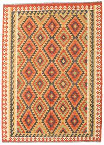 Kelim Afghan Old Style Teppe 178X242 Ekte Orientalsk Håndvevd Orange/Mørk Beige (Ull, Afghanistan)